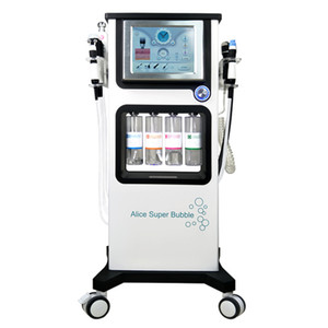 Wholesale 7 in Multifunction Alice Super Bubble Jet peel Oxygen Spray Facial Therapy Machine For Skin Care