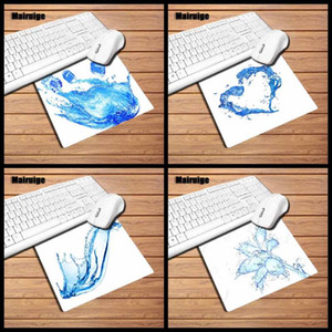 Blue pattern white background pattern design mouse pad computer desktop rectangular small size rubber mouse pad non-slip durable pad gift