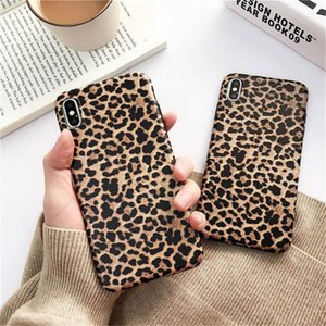 Wholesale Sexy Leopard Prain TPU Silicone Case Cover Skin For iPhone s Plus Matte Soft Cases For X XR XS MAX For iPhone Pro Max