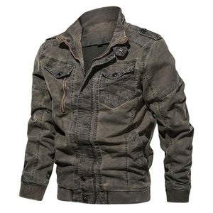 Wholesale Fashion Mens Designer Jackets Slim Military outfit Autumn Winter Coats Tops Men Clothing Blue Drop ship