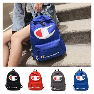 Wholesale Champions Letter Backpack With Big Logo Printed Shoulders Bags Fashion Boy Girls Schoolbags Unisex High Capacity Sport Travel Beach Bag C422