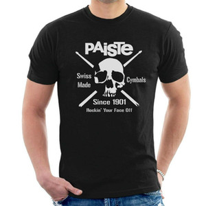 Wholesale Paiste Skull T Shirt Cymbals Since Drummer Drums