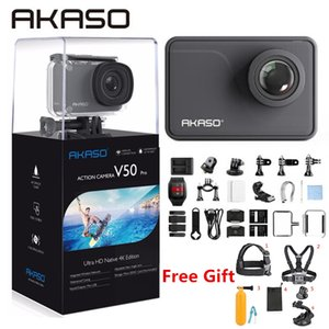 Wholesale AKASO Action Camera V50 PRO K FPS Touch Screen WiFi Remote Control Sports Video Camcorder DVR DV go Waterproof pro Camera