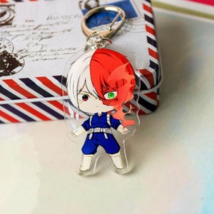 Wholesale 1pc Acrylic My Hero College Anime Character Key Ring Pendant Casual Clothing Accessories High Quality Boy Girls Cute Keychains