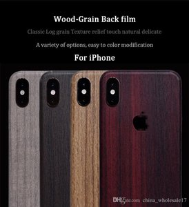 Wooden Grain Vintage Stickers For iPhone 6 6S 7 8 Plus X XR Xs Max 5S SE Sandalwood Teak PVC Adhesive Back Protective Film Skins