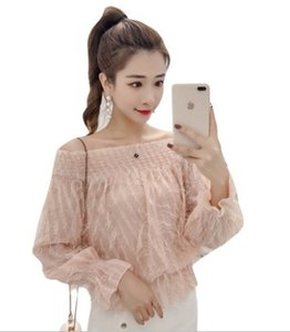 Wholesale New Arrival Hot Sale Special Fashion Female Korean Version Super Fairy Chiffon Bubble Long Sleeve Bright Silk Top Tide Shirt