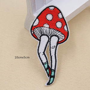 Wholesale Mouse Pizza Mushroom Music LOVE Embroidery Patches Sew Iron On Applique Repair DIY Badge Patch For Kids Clothes Jacket Bag Garment