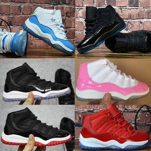 Wholesale 2019 New kids basketball shoes gift for boy girl childrens Space Jam Bred Concord Gym Red luxury designer sports shoes