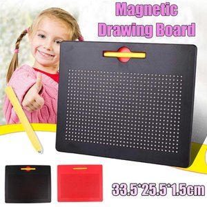 33.5x25.5cm Magnetic Tablet Magnet Pad Drawing Board Steel Bead Stylus Pen Learning Educational Writing Toys for Children Gift T191116