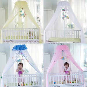 Wholesale Baby Crib Mosquito Net For Infants Portable Newborn Cot Folding Canopy Boys Girls Summer Netting Portector Children s Bed Wigwam C19041901