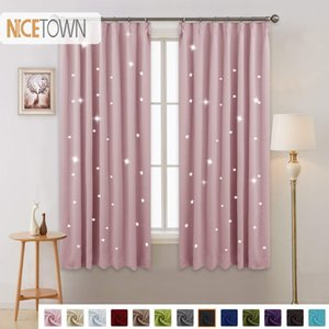 Wholesale 1 Panel Summer Hot Sale Fashio Star Blackout Curtain Japanese Hooks Up Drape For Party Decoration Kitchen Home Bedroom Q190530
