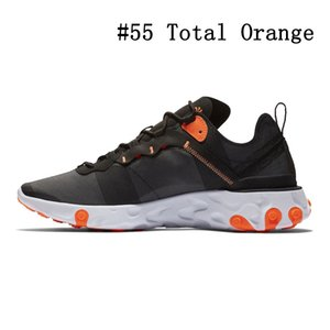 Wholesale 2020 Tour Yellow react element running shoes men women Orange Peel Sail triple black Taped Seams trainers Outdoor sports sneakers
