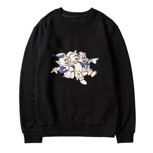 Wholesale 100 cotton Designer Sweatshirts Long Sleeve T Shirts For Men black Hoodie fashion Brand Top Hoodies Autumn Spring luxury clothing Sweater