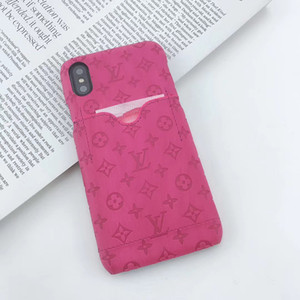 Wholesale One Piece Luxury Embossing Designer phone cases for iPhone x iphone plus XsMax case Back cover mobile phone case with card pocket