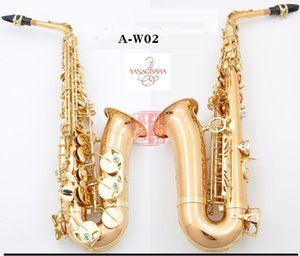 Wholesale Yanagisawa A WO2 primary Alto Saxophone Gold Lacquer With Case Sax Alto Mouthpiece Ligature Reeds Neck Musical Instrument