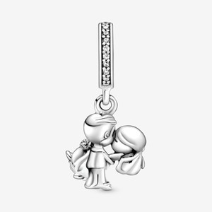 Wholesale bracelets charms for sale - Group buy New Arrival Sterling Silver Married Couple Dangle Charm Fit Original European Charm Bracelet Fashion Jewelry Accessories