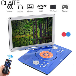 Wholesale 14 inch Portable DVD Player Rotatable Screen Multi Media DVD for Game TV Function Support MP3 MP4 VCD CD Player for Home and Car