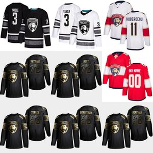 Wholesale gold bills for sale - Group buy 95 Henrik Borgstrom Gold Black Florida Panthers Mike Hoffman Frank Vatrano Dryden Hunt Bill Torrey Keith Yandle Jersey