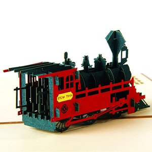 Wholesale fathers day card for sale - Group buy 3D Fathers Day Gift Card Lifelike Train Model Gifts For Kids