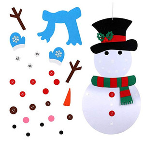 Wholesale 2019 Christmas Decorations x Inch DIY Felt Snowman Set New Year Christmas Gift for Kids Party Game Gift