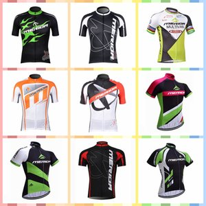 Wholesale MERIDA team custom made Cycling Short Sleeves jersey Summer men s outdoor windproof breathable sports mountain bike sports Jersey T1380