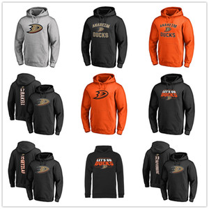#67 Rakell #15 Getzlaf Men's Anaheim Ducks Branded Black Ash Orange Gray Sport Hoody long Sleeve Outdoor Wear Jacket Printed logos on Sale