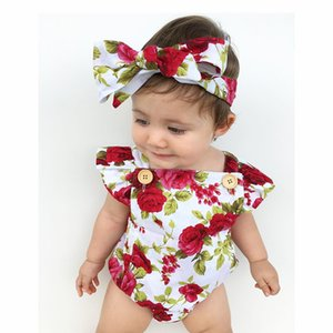 Baby flower jumpsuits new design and flower hair strip on Sale