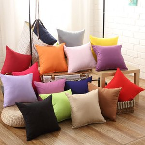 Solid Colors Fashion Square Cushion 45*45cm Hot Office Cover New 1pc Soft Throw Pillow Case Home Cotton C19041301