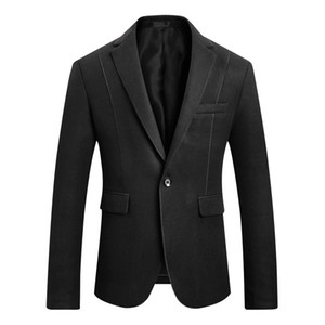 Wholesale Men Suit Fashion Business Casual Slim Fit Hairy Mens Blazer Korean Version Slim Suit Mens Wedding Suits Male Jacket Large Size M XL