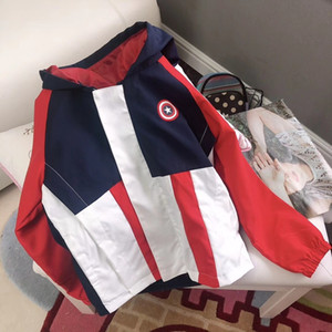 Wholesale Boy jacket children designer clothing 2019 autumn fashion casual comes with a small bag hoodie round neck zipper design cardigan