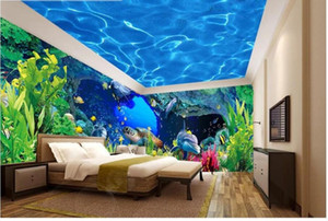 Wholesale underwater wall murals for sale - Group buy Custom mural d photo wallpaper Underwater World with Caves and Corals Whole house background wall room wallpaper for wall d