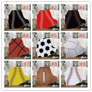 Wholesale games for balls for sale - Group buy Ball Game Square Blanket winter Warm Soft kids Blanket with Hood baseball pattern square soogan Sherpa Fleece Snuggle wrap Blanket for Kids