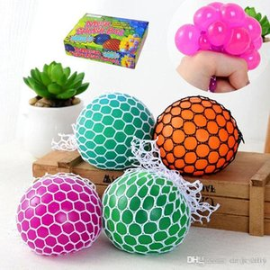 Wholesale squishy toy slow rebound Anti Stress Mesh Face Reliever Grape Ball Mood Squeeze Relief Healthy Toy Vent Decompression toys Gifts