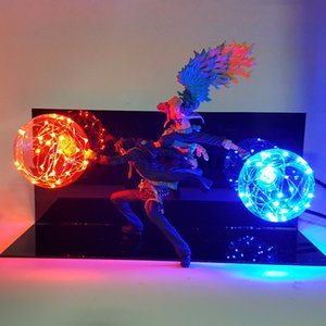 Wholesale toys for boys One Piece Marco Ace Action Figure Led Table Lamp Model Toy One Piece Anime Marco Ace Team Cooperation DIY