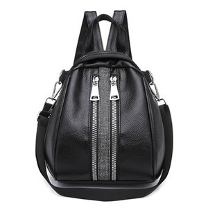 Wholesale Women Backpack Small PU Leather Backpacks for Teenage Girls Schoolbag Shoulder Bag for Women Bagpack Shell Type Bag Mochila Sac