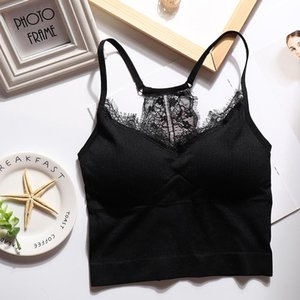 Wholesale Summer Tank Top Women Sexy Lace Camisole Beauty Back Seamless Padded