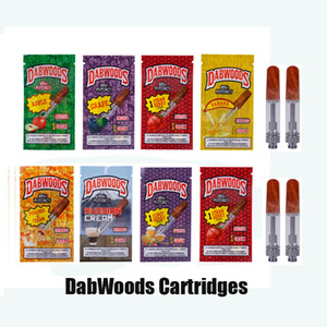 Wholesale DabWoods Carts ml ml Ceramic Coil Vape Cartridge Wood Mouth Tip Vaporizer Atomizer for Thick Oil With Flavor Packaging Bag