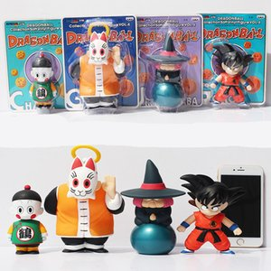 Wholesale TOP Anime cm Dragon Ball Z Sun Goku Master Roshi Gohan set toy PVC Action Figure Collectible Model doll gift