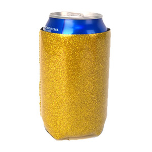 DOMIL Glitter Can Cooler Michelob Ultra Can Cooler Neoprene Sparkle Beer Can Holder DOM-108900