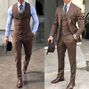 conception de pointe achat en gros de-news_sitemap_home2020 chic britannique mariage smokings mens costumes pour hommes slim fit revers revers promon BestMan garçons d honneur blazer Designs veste pantalon cravate gilet