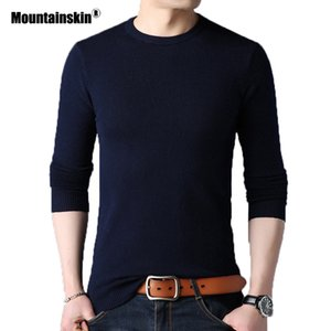 Mountainskin Men's Sweater Autumn Pullover New Slim Round Neck Mens Bottoming Shirt Fashion Casual Solid Sweater M~4XL SA764 T191219