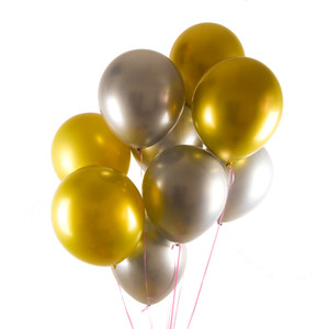 12inch Birthday Rose Gold Silver Round Balloons Party Wedding Birthday Decorations Globos Ballon