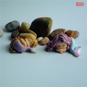 Wholesale Everyday Collection Resin Mermaid Miniature Fairy Garden Home Accessory Decking Interior Marriage Decoration