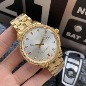 Wholesale High quality steel k gold plated diamond men s watch mm Swiss automatic mechanical seal waterproof men s watch