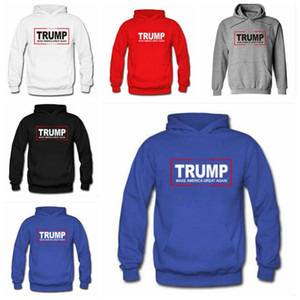 Wholesale Trump Hoodies Unisex Velvet Sweatshirts Designer Jackets Casual Long Sleeve Hooded Coat Fashion Fleece Hip Hop Outwear Jumper Pullover B6049