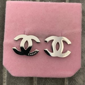 Wholesale High quality hot sale K gold rose silver L stainless steel letter Stud Earring men women boys girls gift jewelry rings