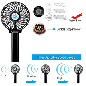 Wholesale Portable Rechargeable Handheld Mini Fan Hand Held Cooling Fan Air Cooler Mini Operated Hand Held USB Battery No Battery