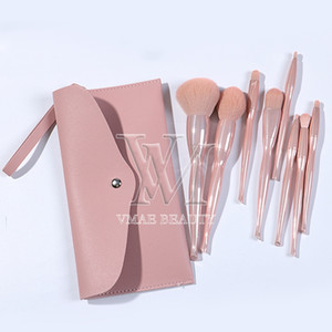 Wholesale selling makeup products resale online - Private Label Colors MakeUp Brushes with PU Bag Hot Selling Brush Set Products Custom Logo High Quality Professional Cosmetic Brush