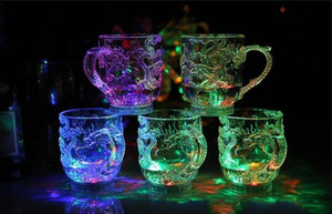 LED Light Luminescence Wine Into The Water Bright Beer Mug Luminous Cup Colorful Bar Cups The Dragon Mugs Individual