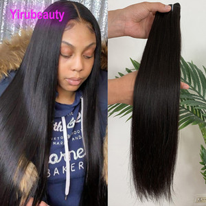 Wholesale draw hair resale online - Brazilian Virgin Human Hair Double Drawn inch Straight Peruvian Malaysian Indian Hair Weaves Remy Bundles Double Drawn Hair Weaves